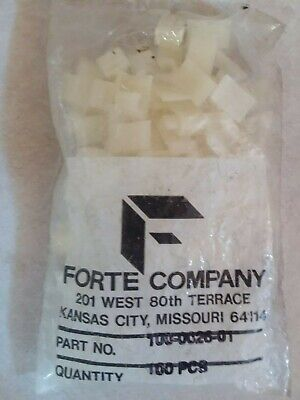 New WHITE Clear Forte Co. Siding Cable Clip Bag of 100 #100-0026-01