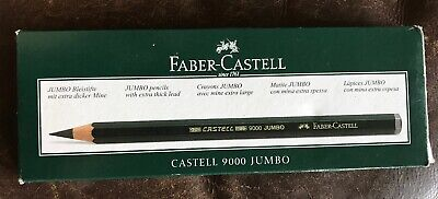 Box Of 6 Faber-Castell Graphite Pencils 9000 Jumbo 4B 91157