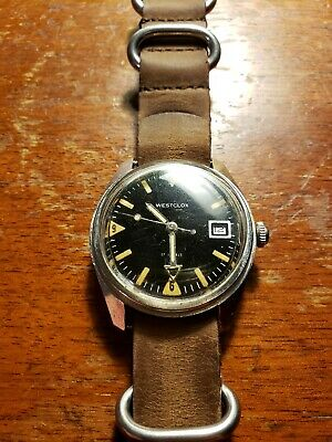 Rare Vintage Westclox 17 Jewels A-241 Manual 330ft Dive Men's Watch