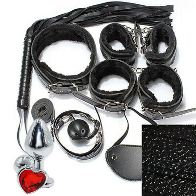KIT STARTER BDSM SET 8 pz bondage + plug anale sadomaso intimo sexy sex toy