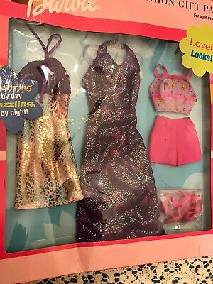 Barbie Mattel 3 Fashion Gift Pack in Package 2001 Lovely Looks Charming Dazzling