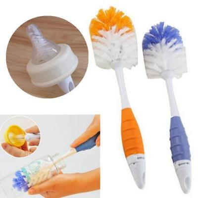 2 in 1 Baby Feeding Milk Bottle Nipple Nozzle Cup Cleaning Brush Tool Shan