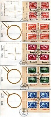 1982 #909-13 CANADA'82 LR PL BLK set of 5 FDC with CP cachet