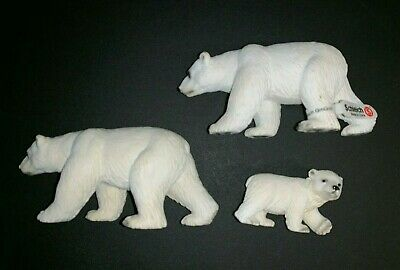 Schleich Polar Bear Lot of 3 Figures/Figurines (Used/New) Zoo Wildlife Africa