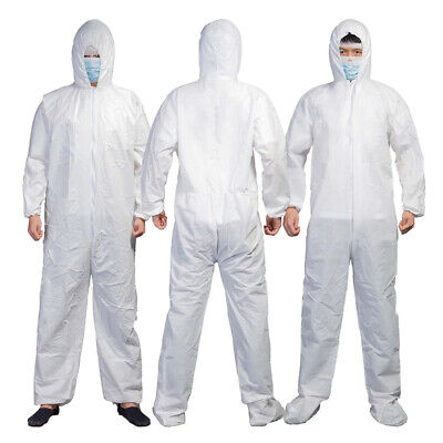 1Pc Hazmat Suit Anti-Virus Protection Clothing Coverall Disposable Washable