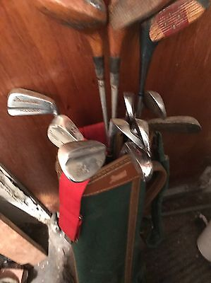Lot Of 12 Golf Clubs And Bag
