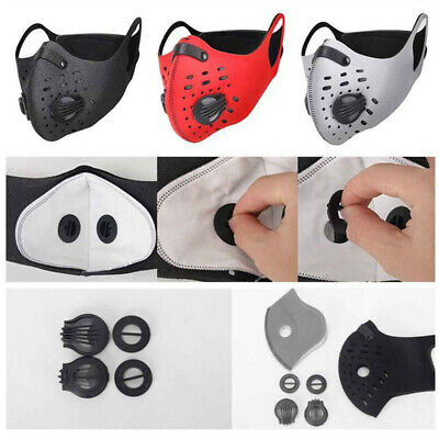 Cycling Protective Face Shield Mouth Cover with Activated Carbon Outdoor Sports