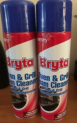 Bryta Oven & Grill Foam Cleaner Ready To Use 500ml  Pack Of 2 Tins - New