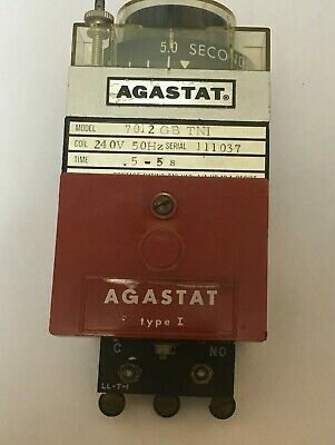 Agastat Model  7012 Gb Tni  .Time Delay And Time Relay   (Red)