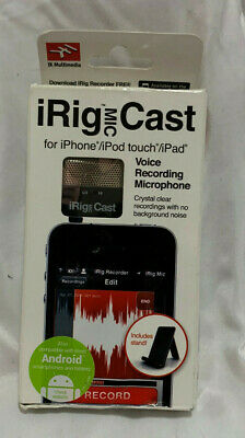 iRig Mic Cast Microphone iPod iPhone iPad Android IK Multimedia New in Open Box