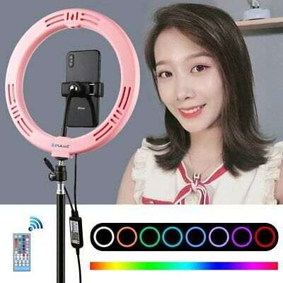 "7.6"" 80LED Ring Fill Light Studio Selfie Video USB Dimmable Lamp Phone Clip+PTZ"