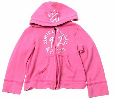 ABERCROMBIE & FITCH Girls Hoodie Sweater 3-4 Years Pink Cotton  KF04