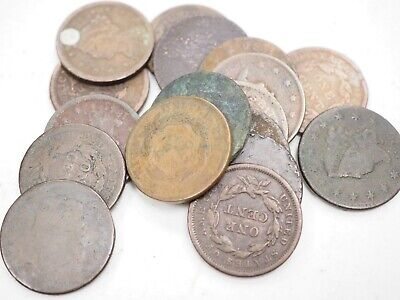 17 cull and low grade Large Cents