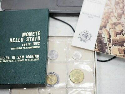 1982 SAN MARINO (Italy) complete set 9 coins UNC in official plastic box