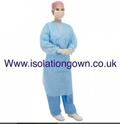 100x Disposable Isolation Gown Overalls Suit Protection Clothing - IN STOCK NOW