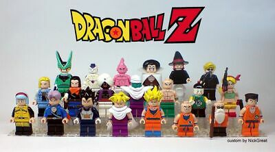 DRAGON BALL Minifigure Lego custom Goku Gohan Vegeta cell junior Majin bu
