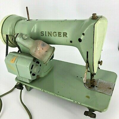 TESTED Vintage Mid-Century Singer 185J Sewing Machine Simanco Green - Fast Ship