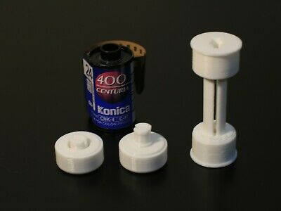 35mm to 120 Film Adapter & Spool for Medium Format Cameras - 3D Printed - White