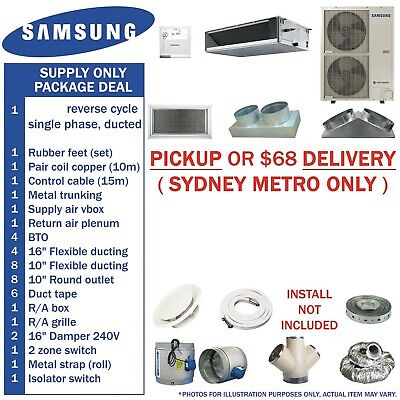 12kw 14kw 16kw SAMSUNG ducted system KIT cooling heating air con copper flexible