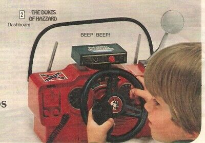 Vintage 1981 Dukes Of Hazzard Dashboard General Lee Catalog Print Ad Clipping