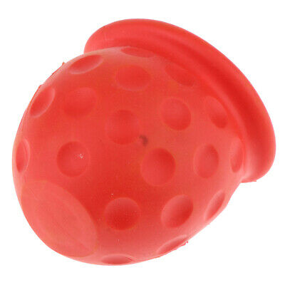 Red Tow Bar Ball Cover – Car Towing Hitch Towball – Plastic Cap – 50mm, Red