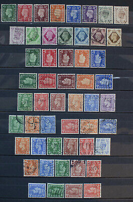 GB Complete Collection of KING GEORGE VI Definitives Fine Used inc Watermark Var