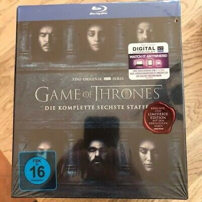 BluRay - BOX - Game of Thrones - Staffel 6 inkl. Rabe - Limited Edition Neu &OVP