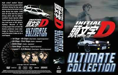 Anime DVD Initial D Complete Stage 1-6+3 Movie+2 Extra Stage+2 Battle Stage NEW