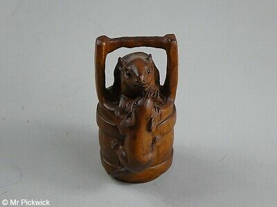 Mice on a Bucket Netsuke with Signature
