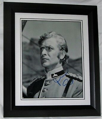 "#1Mczebf  Michael Caine Signed ""Zulu"" Framed Guaranteed Authentic Aftal"