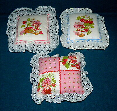 3 Vintage : STRAWBERRY SHORTCAKE : Diaper Pin Cushion PILLOW @ Cute BABY ROOM