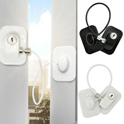 Cabinet Window Refrigerator Door Lock Key Security For Baby Safety Non Drilling