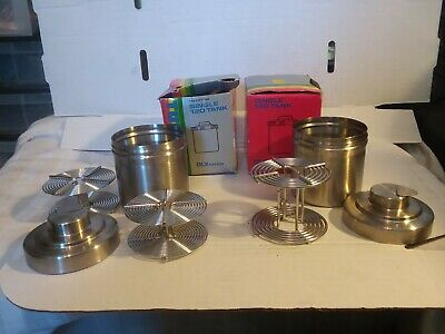 Lot of 2 Tundra Single 120 Tank DLX series stainless steel film developing