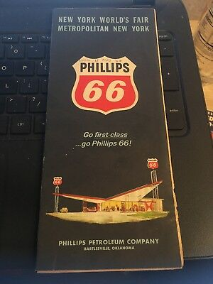 Vintage Map: Phillips 66 ; New York world's Fair , Metro NY 1964-5