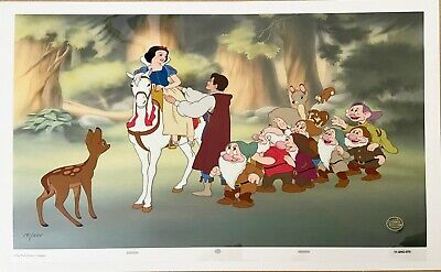 "Disney's Snow White and the Seven Dwarfs Ltd Ed Cel 191/500 ""Happily Ever After"""