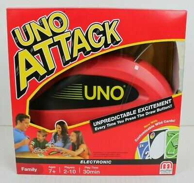 NEW Mattel UNO Attack Card Game Custom Wild Card FACTORY SEALED Makes Great Gift