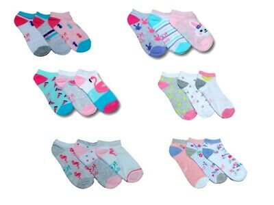 Women Girls Children Kids Cotton Summer Ankle Trainer Socks Multi Buy 3 Pairs