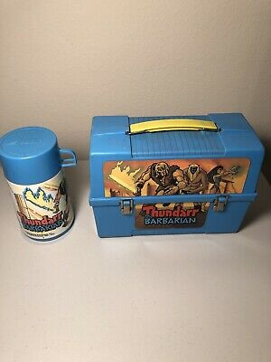 1981 vintage Aladdin THUNDARR THE BARBARIAN lunchbox w/ thermos bottle lunch box