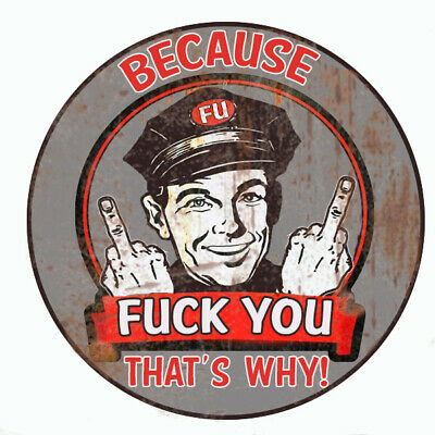 "Because F""""K You Hot Rod Bumper Sticker Laptop Sticker Toolbox Sticker"