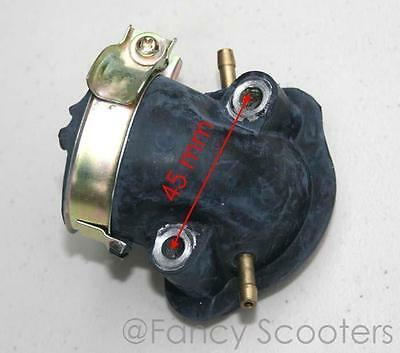 Intake Manifold 2 Vacum Feeds 150Cc Gy6 157Qmj Engine Gas Scooter Or Go Kart
