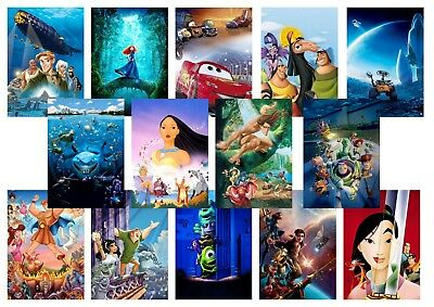 Toy Story  Nemo  Wall E  Cars  Brave  Monsters inc  Mulan  A5 A4 A3 Posters