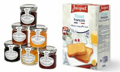 French Toasts + Jams & Marmalade Selection Food Gift Breakfast Tiptree Jacquet