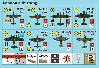 Die-Cut Replacement Counters for Avalon Hill's London's Burning