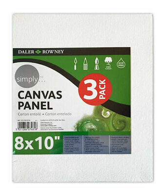 """Daler Rowney Simply Canvas Panel 8 x 10"""" (Pack of 3 Boards)"""