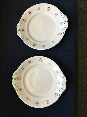 Vintage Pair Of Sandwich/cake Plates Unmarked