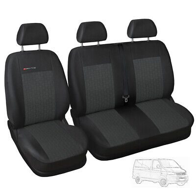 Fully tailored Van seat covers for VW Volkswagen Transporter T5 grey
