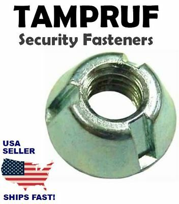 25x TAMPRUF Tamper & Loss Prevention Zinc Nuts - 10-32 Tri-Groove Cone T-nuts