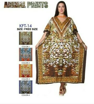Ladies New summer detailed Kaftan dress African Style UK Size 12 To 24