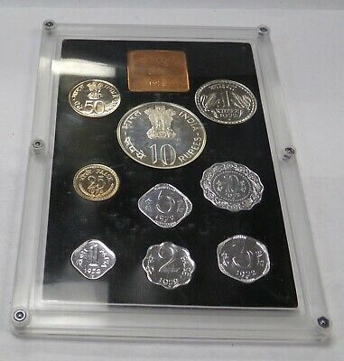 1972 Republic of India 9 Coin Proof Set Original Package