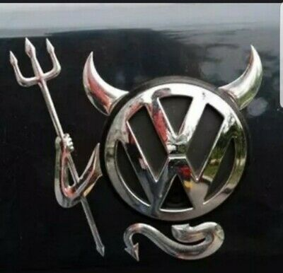 B448 Demon Emblem Devil Badge auto aufkleber 3D Hellcat SRT Fender Side chrom